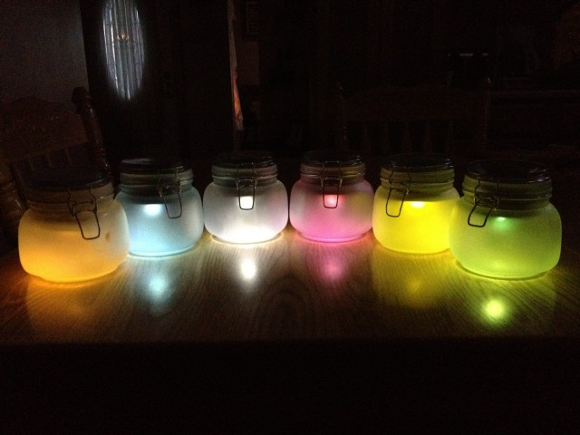 DIY Solar Powered Mason Jar Lights