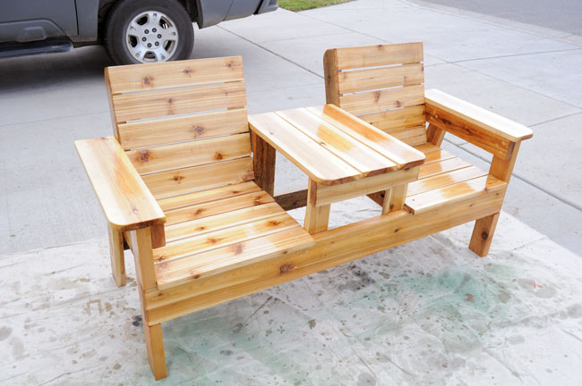 Amazing Download Double Chair Bench Plans