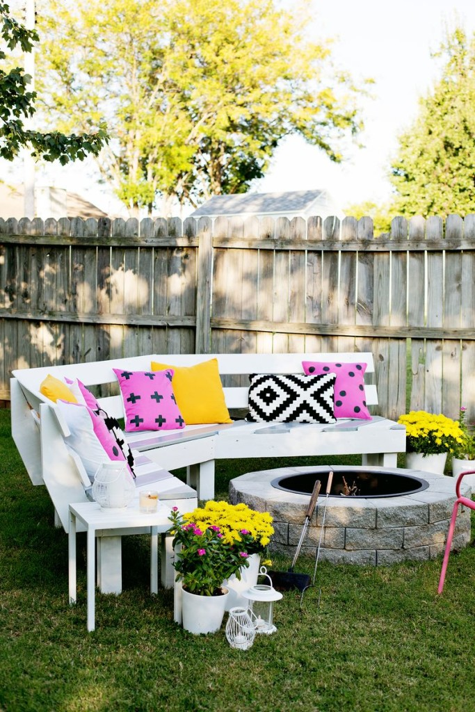 fire pit seating idea