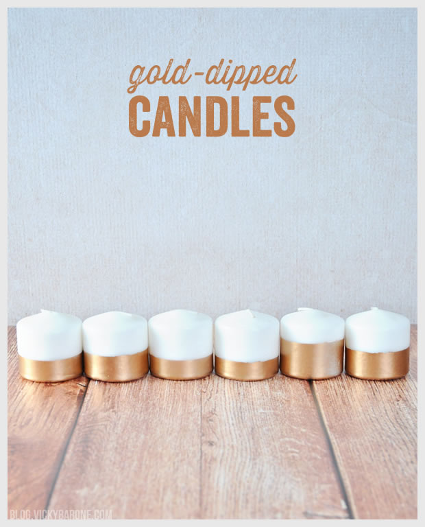 Gold Painted Candles
