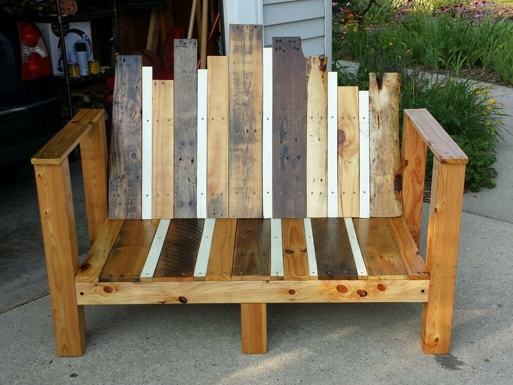 lumber garden bench seat - Wooden Garden Furniture Love Seats