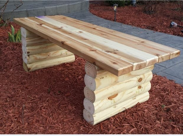 how to build a simple garden bench seat