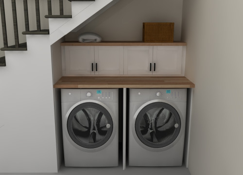 Laundry Under Stairs