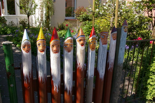 Painted Face Fence