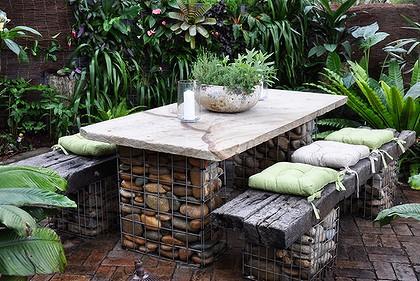 Stone and Wire Garden Furniture