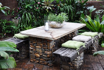 Stone and Wire Garden Furniture