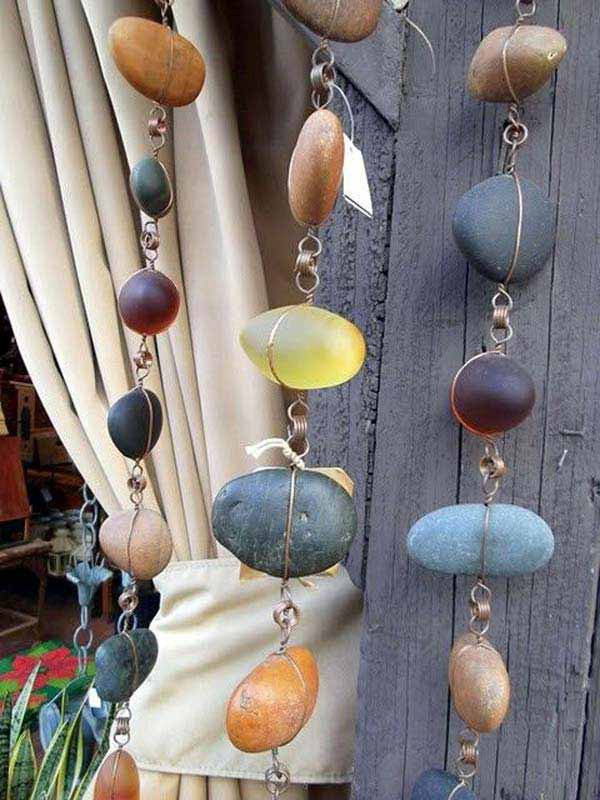 Stone and Wire Hanging Art
