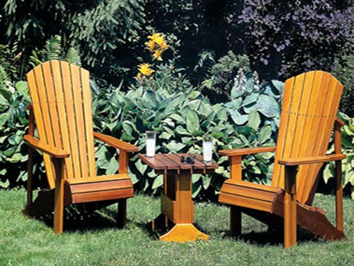 Adirondack Chair and Table