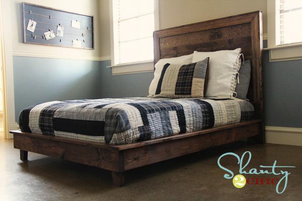 Barn Plank platform bed