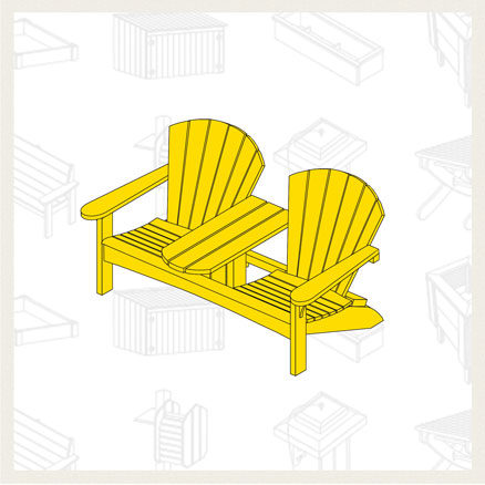 Build a Double Adirondack Chair