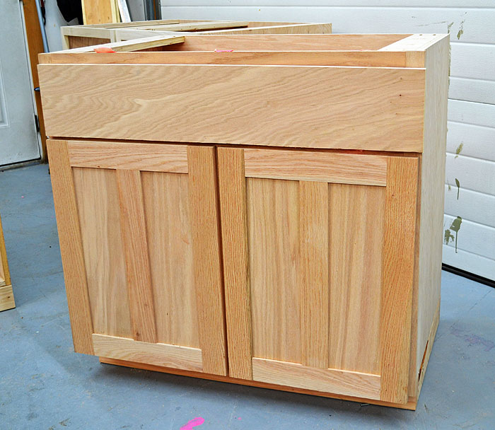 Build A Simple Stand Alone Two Doors Kitchen Cabinet