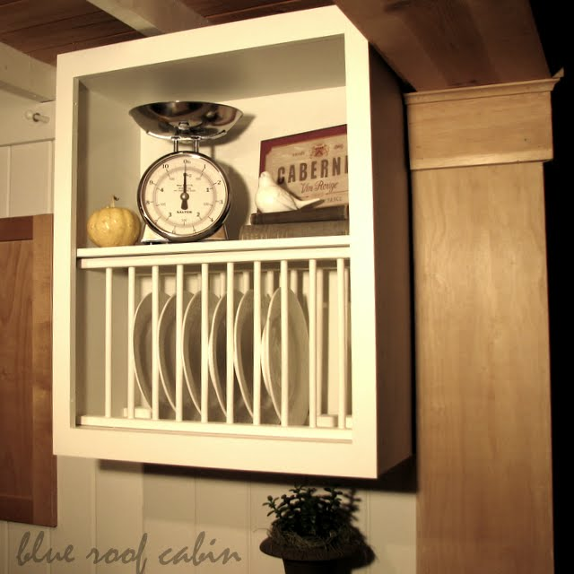 Kitchen Cabinets Plate Rack: 20 Inspiring DIY Kitchen Cabinets-Simple Do It Yourself