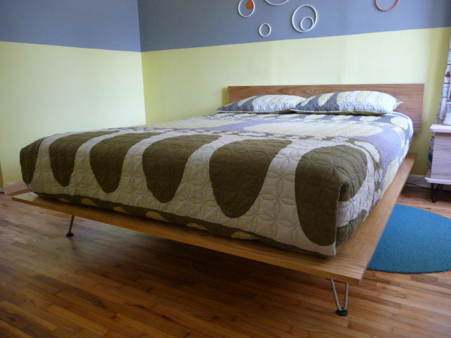how to make a platform bed frame with legs