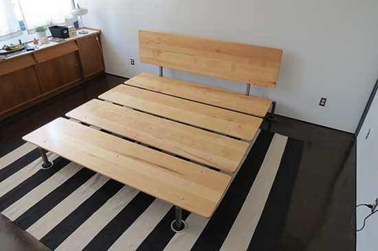 how to make your own platform bed with headboard