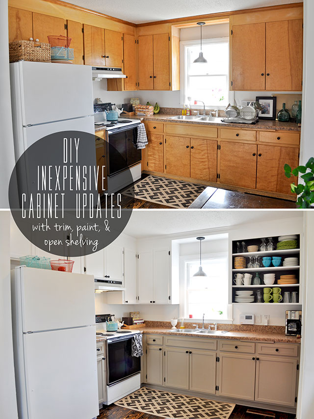 20 inspiring diy kitchen cabinets simple do it yourself for Making old kitchen cabinets look modern