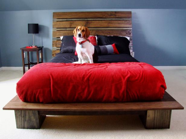 15 diy platform beds that are easy to build home and for Build a simple bed frame