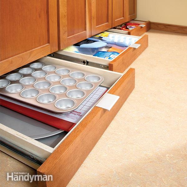7 Roll Out Cabinet Drawers You Can Build Yourself: 20 Inspiring DIY Kitchen Cabinets-Ideas To Build Your Own