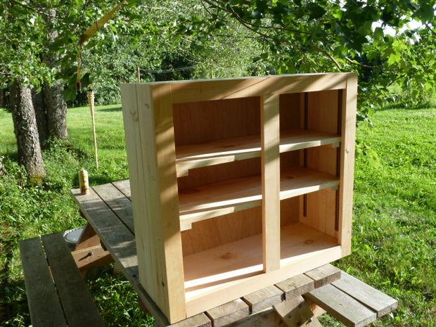Shiplap wall cabinets
