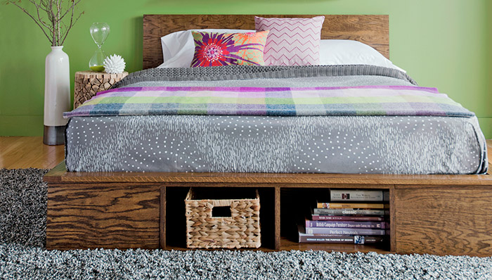 Storage Platform bed made with plywood