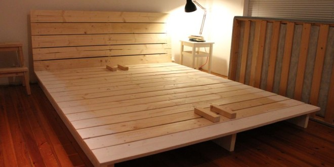 diy wood platform bed 1