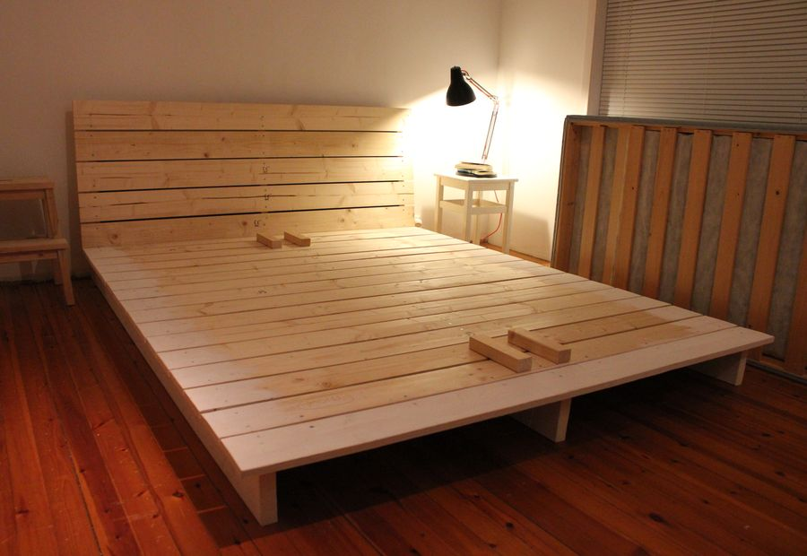 15 diy platform beds that are easy to build home and for Simple bed diy