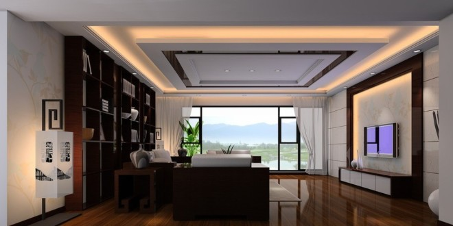 Charming Ceiling Design For Living Room