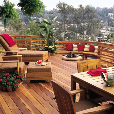 Ideas For Deck Designs exteriorwonderful small deck furniture ideas for perfect backyard with stair railing fence and green Deck With A View Ideas For Deck Design