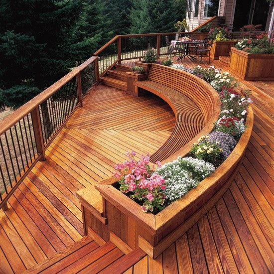 22 Deck Design Ideas To Create a Fabulous Outdoor Living ... on Decking Designs For Small Gardens id=14075