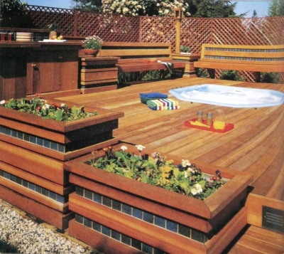 Ideas For Deck Design asymmetrical wonder Hot Tub Deck