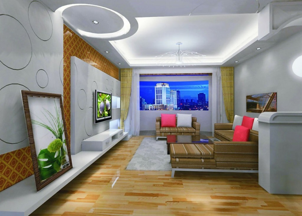 25 elegant ceiling designs for living room home and for Simple false ceiling designs for living room