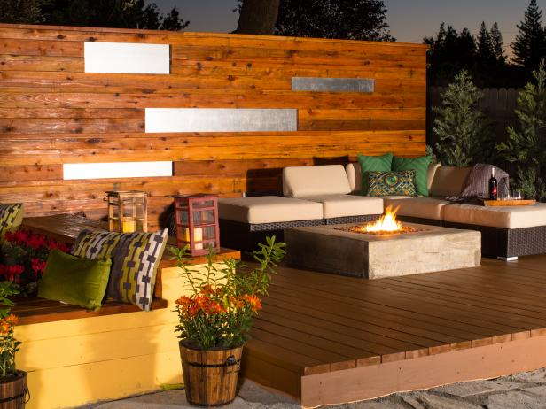 Modern and Private deck design