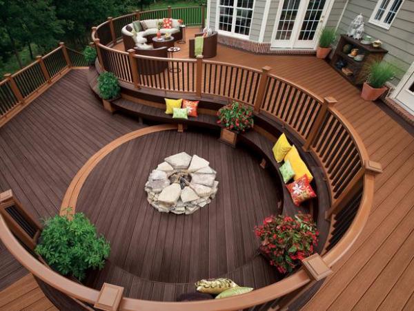 Organic Shape deck