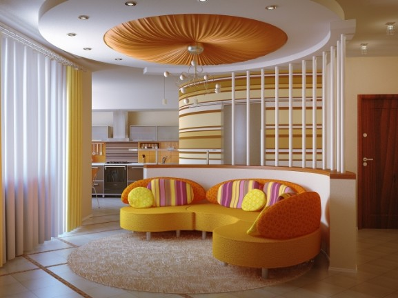pop ceiling design - Living Room Pop Ceiling Designs