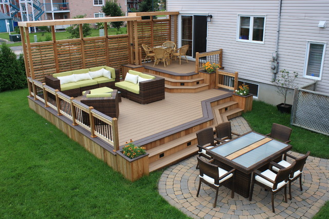 Deck Backyard Ideas the wooden and metallic patio deck designs house decor Simple Deck Designs