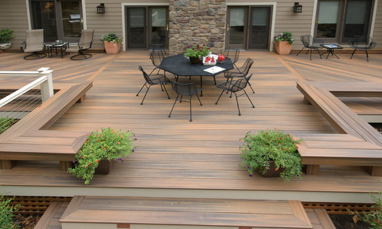 Decks home and gardening ideas for Garden decking design ideas