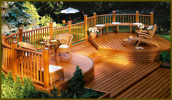 multi space deck outdoor deck design ideas - Outdoor Deck Design Ideas