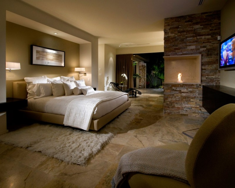 20 inspiring master bedroom decorating ideas home and for Luxury modern bedroom