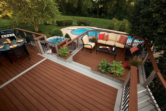 two tiered large deck