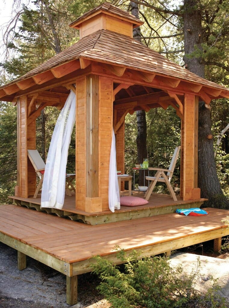 Gazebo plans 14 diy ideas to enjoy outdoor living home for Simple gazebo plans