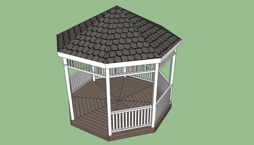 Gazebo plans 14 diy ideas to enjoy outdoor living home for Octagon deck plans