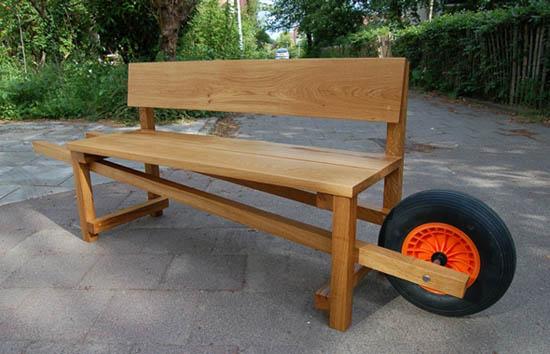 Portable Backyard Bench