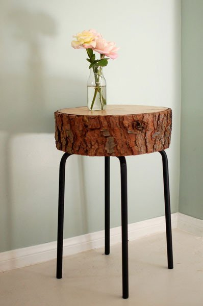 Rustic Log Table