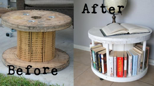 Spool Bookcase