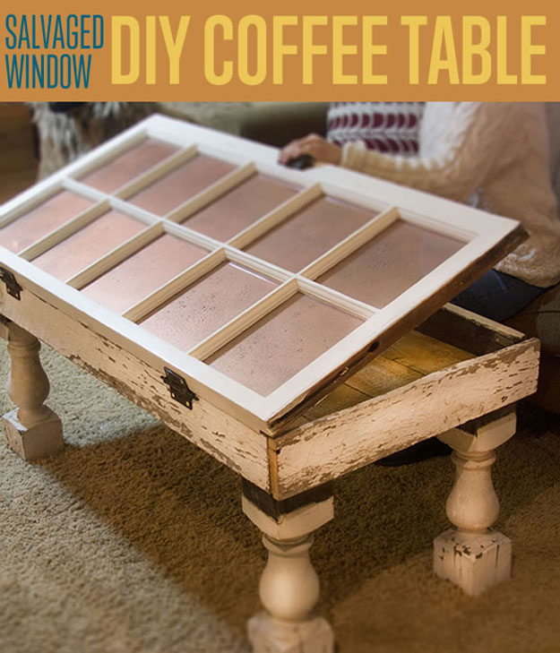Small Coffee Tables Diy: Repurposed Furniture Ideas-25+Ways To Reuse Old Things