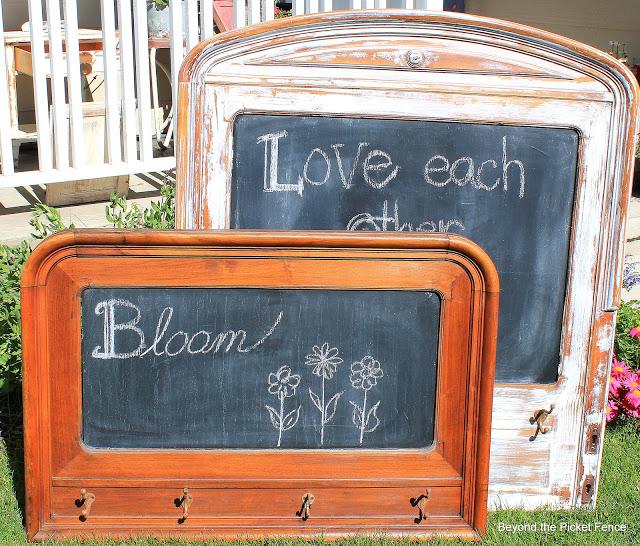 chalkboard from a headboard