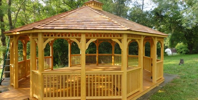 Free gazebo plans 14 diy ideas to enjoy outdoor living for Plans for gazebo with fireplace