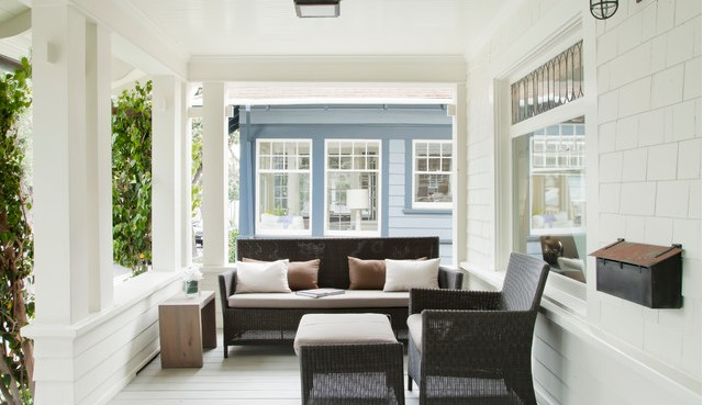 Modern Look Front Porch
