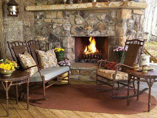 Rustic Charm Front Porch Idea