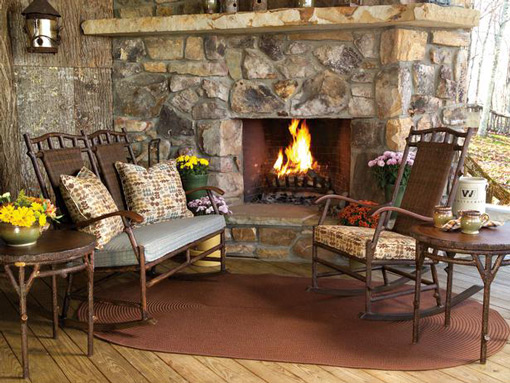 Rustic Charm Front Porch Idea