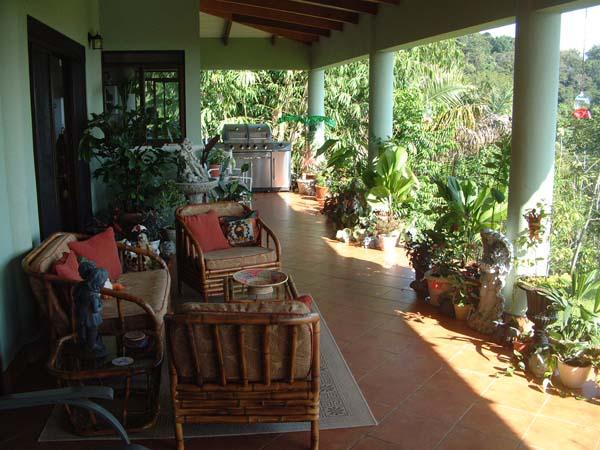 open ground-level patio